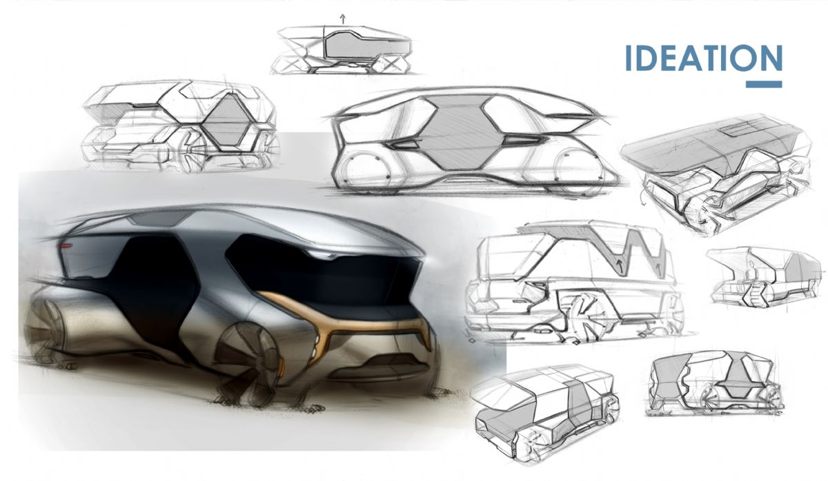 Transporation Design Ideation Sketches