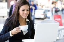 LTU Online - Businesswoman using Laptop