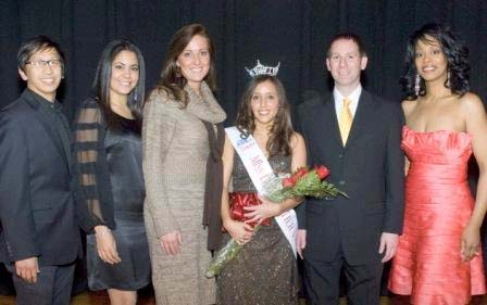 Miss LTU and Judges L  to R: Jeff Rebudal, Maria Torres, Nicky Lingo, Andrea Freile, Scott Giancarli, Stephanie Hunt