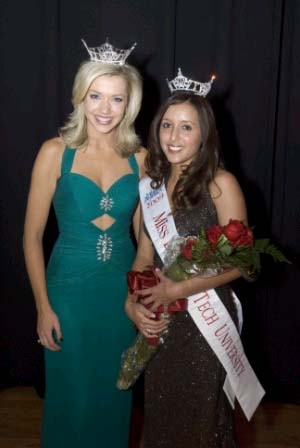 Miss LTU: Andrea Freile and Miss Michigan 2008, Ashlee Baracy