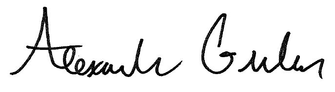 Alex Gruber Signature