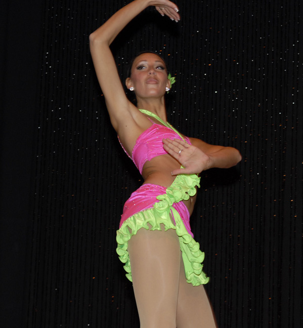 Miss Lawrence Tech 2010, Jenelle Sekol, performs her talent from Miss Michigan 2010 competition