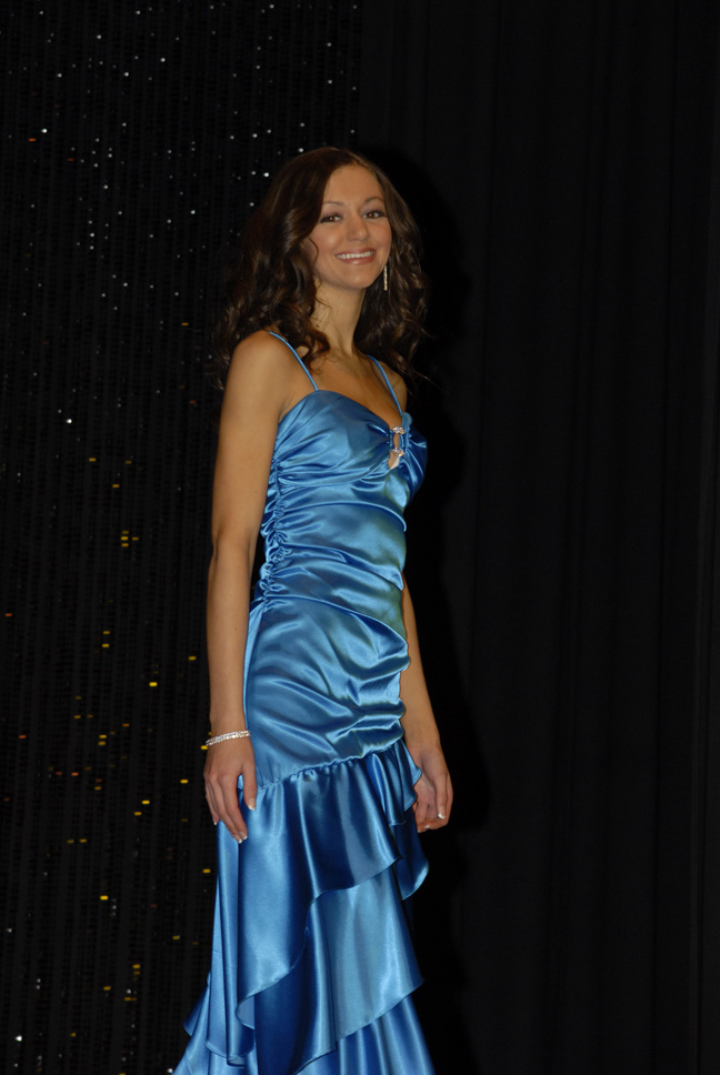 Cassandra Pizzi during evening wear