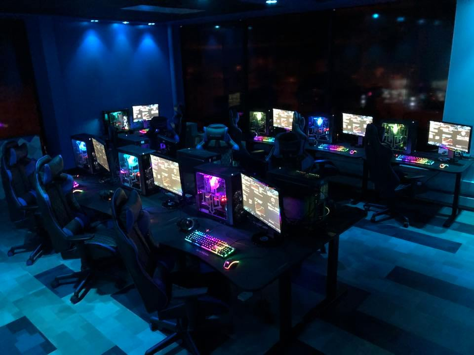 The gaming stations at the new eSports arena