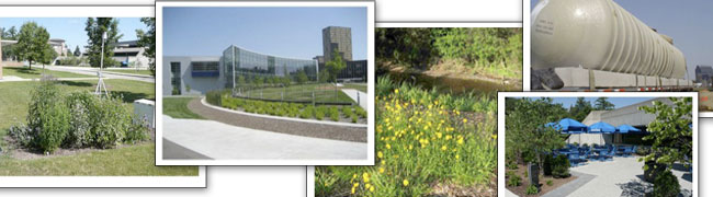 Bioswales, Cistern, Native Landscaping, Pourous Pavement, Rain Gardens