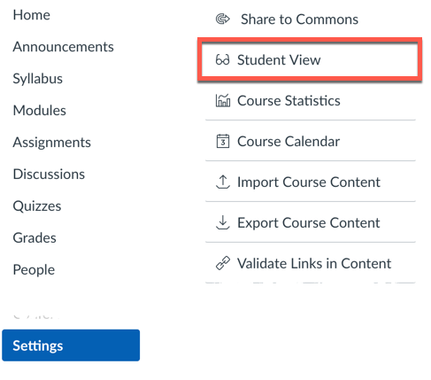 student-view-settings