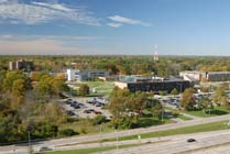 campus arial view