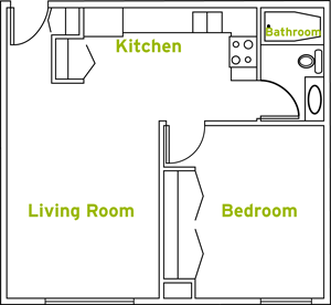 One Bedroom Apartment Style Suite
