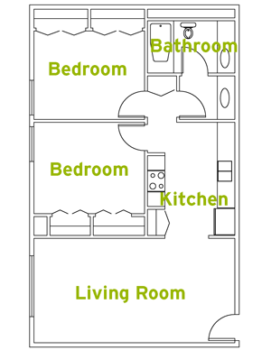 Two Bedroom Apartment Style Suite