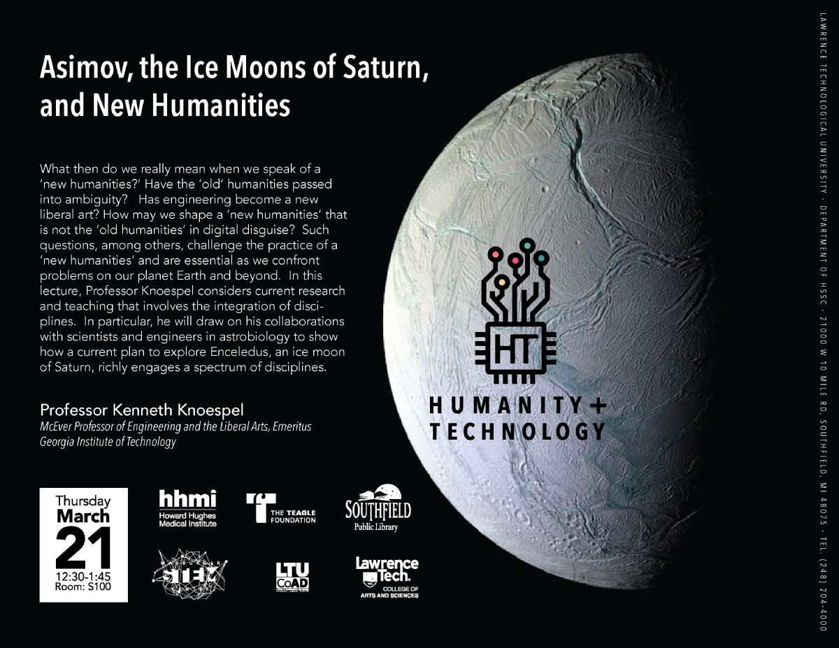 Asimov, the Ice Moons of Saturn, and New Humanities