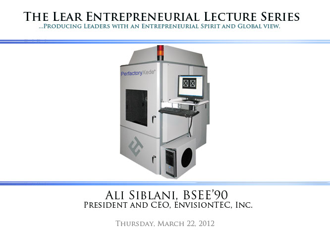 The Lear Entrepreneurial Lecture Series | Ali Siblani
