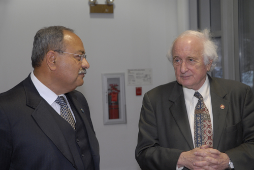 Dr. Nabil Grace and Congressman Sander Levin