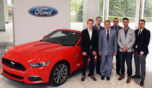 Stephen Leu standing next to Ford Executive Chairman Bill Ford
