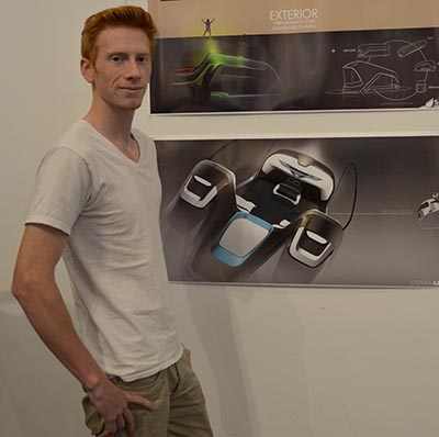 transportation design student Stephen Leu