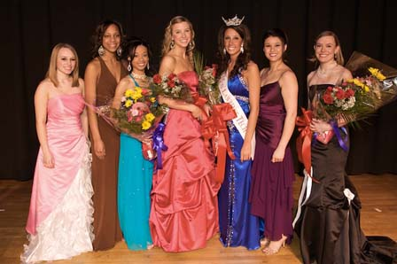 L to R - Jessica Gauthier, Jasmine Jones, Liana Meeks (Swimsuit and People's Choice winner), 2nd RU Allison Andre, Jenelle Sekol, Jennifer Guthrie, 1st RU Madalyn Knebel (Talent Winner)