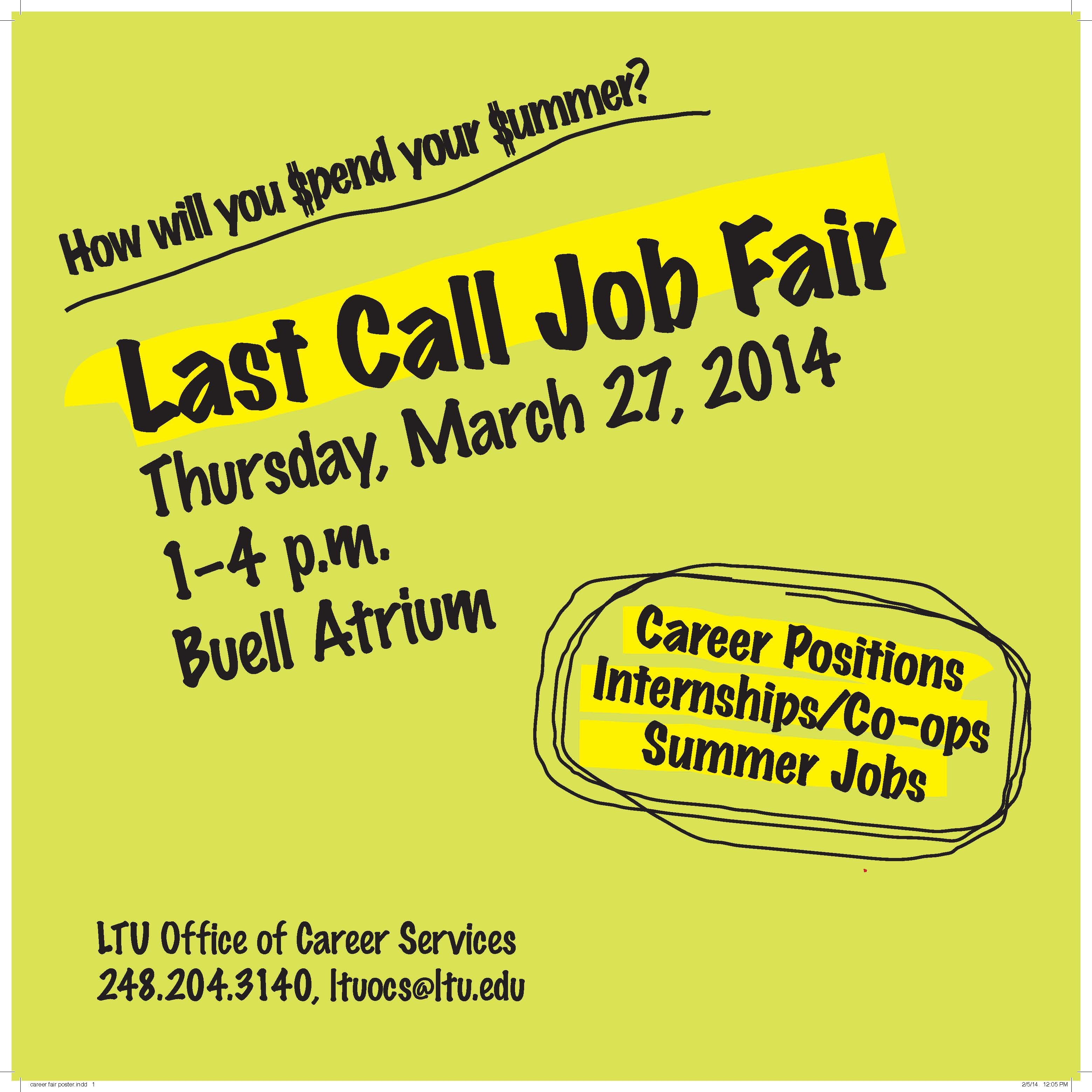 Last Call Job Fair