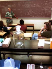professor teaching in classroom