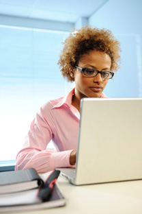LTU Online - African American Woman using Laptop