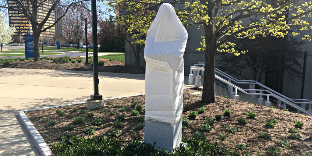 shrouded sculpture
