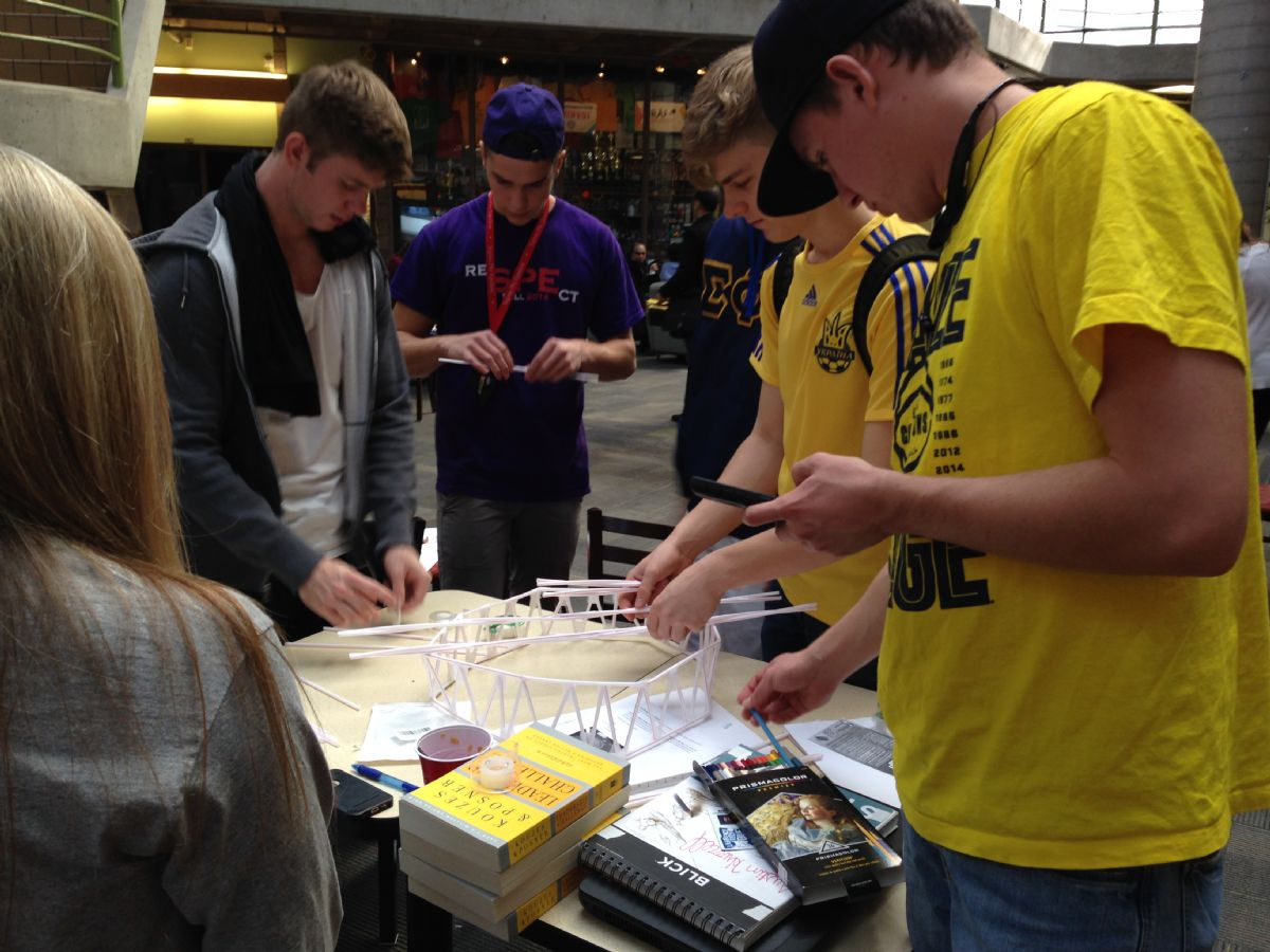 Students engaged in innovation event
