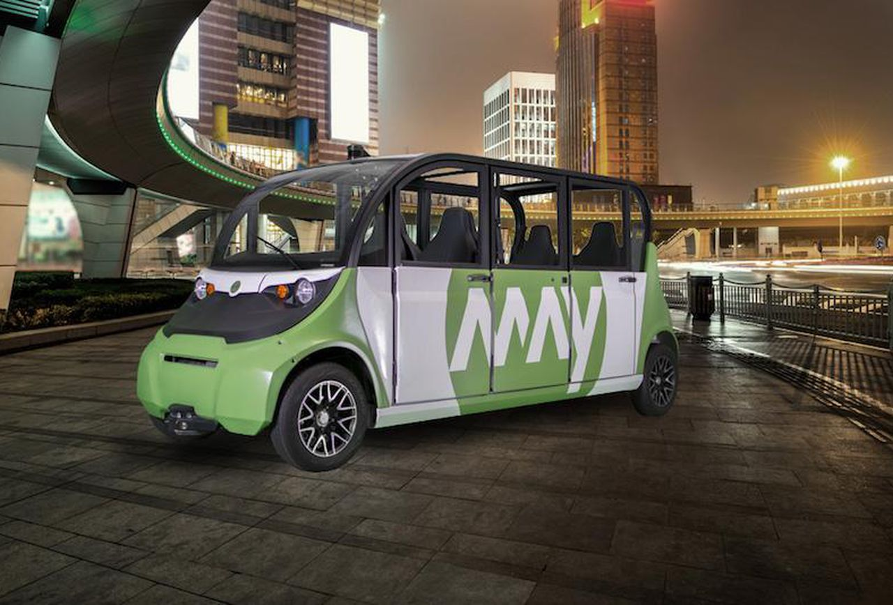 May Mobility - autonomous shuttle vehicle