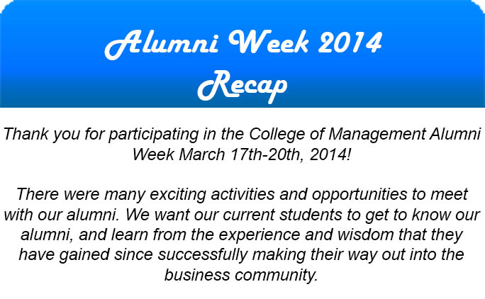 Alumni Week Recap
