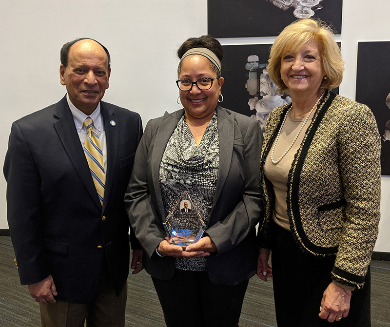 LTU President Virinder Moudgil, Monique Lake, and LTU Provost Maria Vaz.