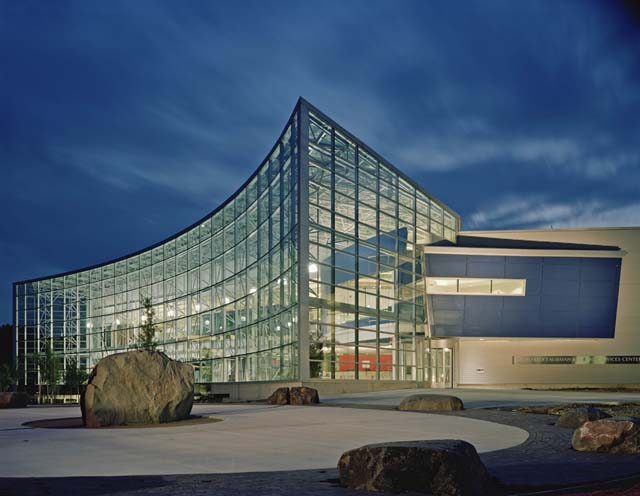 Taubman Center at night